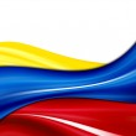 Bandera de Colombia — Foto de Stock