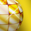 Yellow sphere - Stock Photo