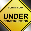 Under construction signal - Stock Photo