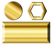 Gold elements — Stock Photo