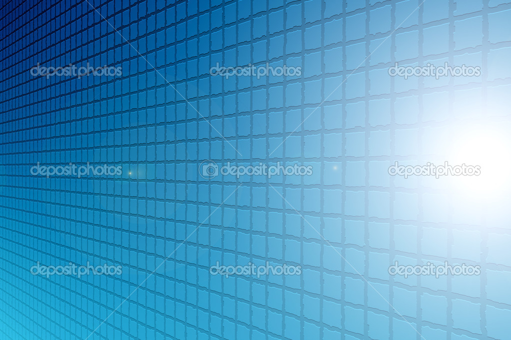 Blue shapes with perspective and light effects — Stock Photo #4914758