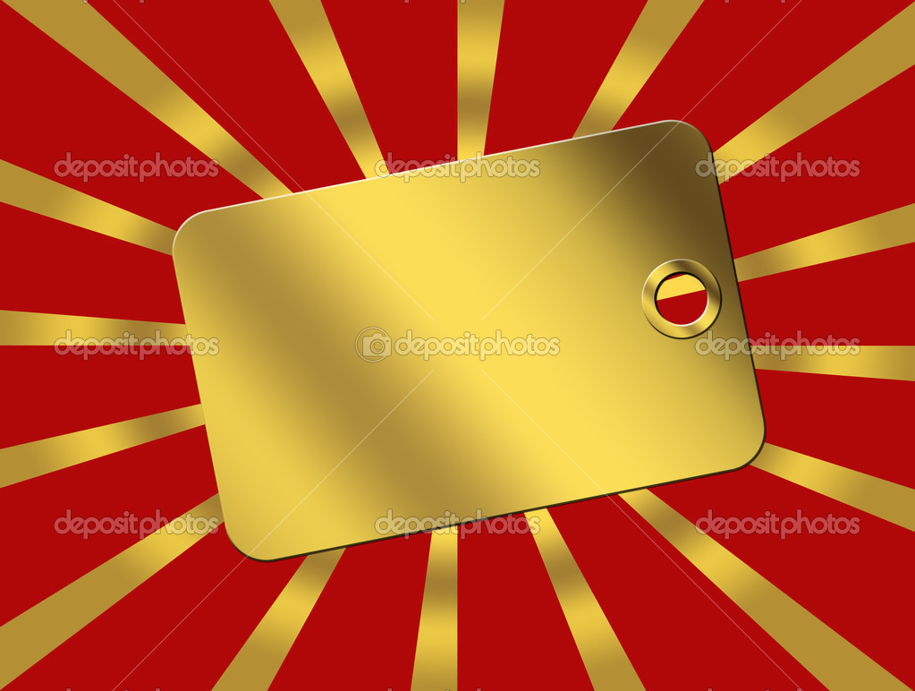 Gold card over red background. empty illustration — Stock Photo #4917252