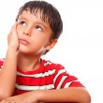 Child thinking — Stock Photo