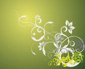 Papel pintado de flores — Vector de stock