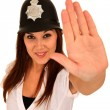 Gorgeous Brunette Policewoman — Stock Photo #3339761