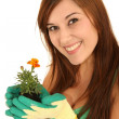 Pretty Gardening Woman — Stock Photo