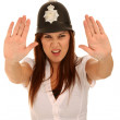Pretty Policewoman with Angry Look — Stock Photo #3437403