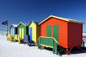 Colorful Beach Change Rooms — Stockfoto