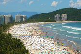 Crowded Beach in Brazil close to Rio de — Stock Photo