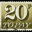 English Postage Due Stamp — Stock Photo #2714218