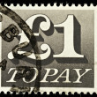 English Postage Due Stamp — Stock Photo #2714300
