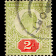 Vintage English Postage Stamp — Stock Photo