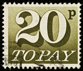 English Postage Due Stamp — Stock Photo