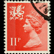 Wales Postage Stamp — Stock Photo