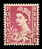 Old Wales Postage Stamp — Stock Photo