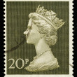 Stock Photo: Used England Postage Stamp