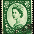 Stock Photo: Vintage England Postage Stamp