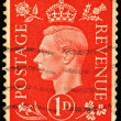 Vintage England Postage Stamp - Stok fotoraf