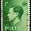 Vintage England Postage Stamp - Stock Photo