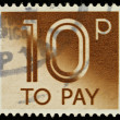 England Used Postage Due Stamp — Stock Photo
