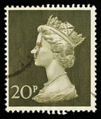 Used England Postage Stamp — Stock Photo