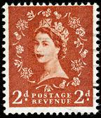 Vintage England Postage Stamp — Stock Photo