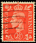 Vintage England Postage Stamp — Stock Photo