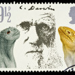 Postage Stamp Showing Charles Darwin - Stock Photo