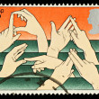 Postage Stamp Showing Sign Language — Stock Photo