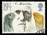 Postage Stamp Showing Charles Darwin — Stock Photo