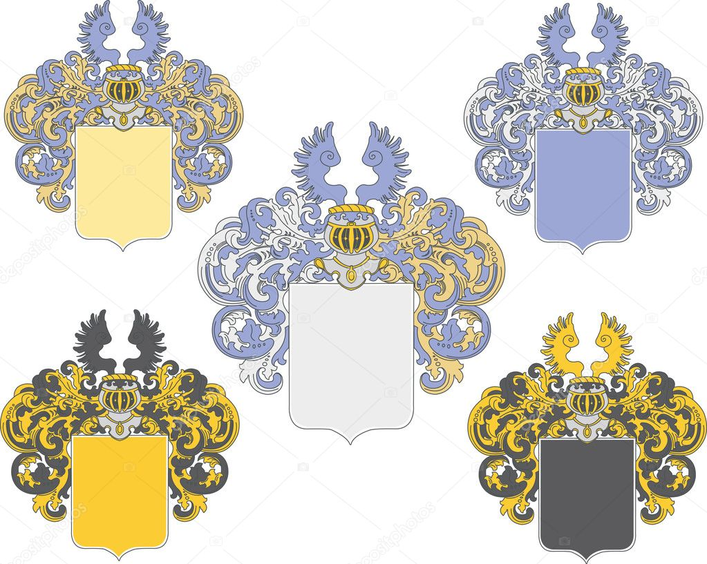 Coat of arms in various colors schemes  — Stock Vector #2772504