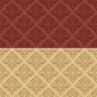 Seamless texture damask 1 red sand — Stockvectorbeeld