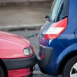 Two closely parking cars — Stock Photo