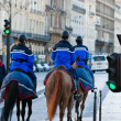 French gendarmerie on a street of Paris — Stock Photo