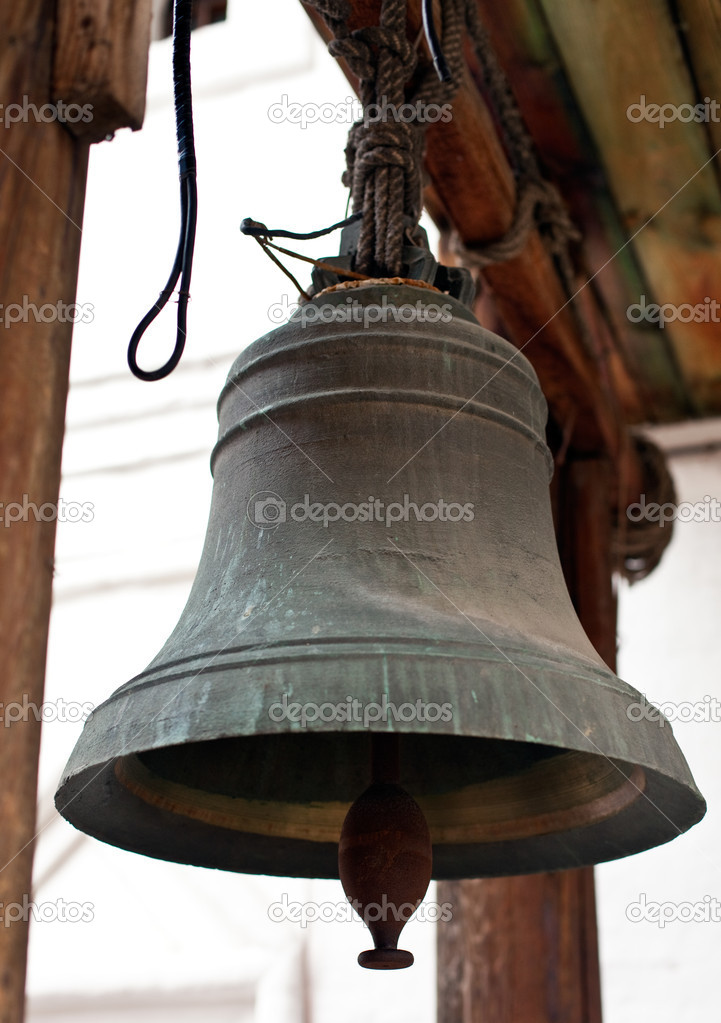 Old orthodox bell. macro vertical shot — Stock Photo #3152035
