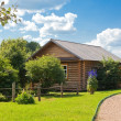 Wooden country house - Stock Photo