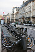 Rent bicycle parking — Stock Photo