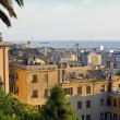 Old Genoa city port view — Stock Photo