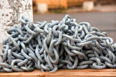 New anchor chain heap — Stock Photo