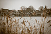 Sepia toned image of Zaanse Schans — Stock Photo