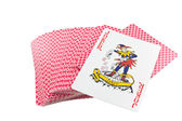 Playing cards deck isolated — Стоковое фото
