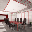 Stock Photo: Modern boardroom interior 3d