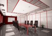 Modern boardroom interior 3d — Stockfoto