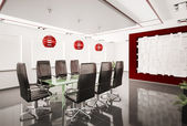 Modern boardroom interior 3d — Stock Photo