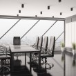 Modern boardroom interior 3d — Stock Photo