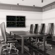 Modern boardroom with lcd interior 3d — Stock Photo #3064218