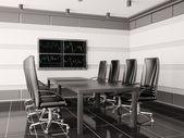 Modern boardroom with lcd interior 3d — Stock Photo