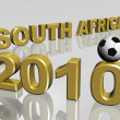 2010 south africand soccer ball 3d — Stock Photo #3163653