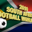 Foto de Stock  : Football 2010 south africflag 3d