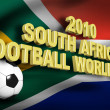 Stockfoto: Football 2010 south africflag 3d